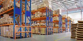 Logistique e-commerce zone stockage entrepôt